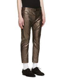 Haider Ackermann - Metallic Silver Leather Pants for Men - Lyst