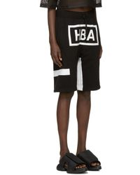 Hood By Air - Black & White Box Logo Shorts for Men - Lyst