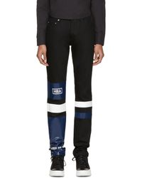 Hood By Air - White Black Striped Pedro Jeans for Men - Lyst