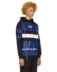Hood By Air - Black Tricolor Striped Hoodie for Men - Lyst