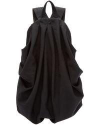 Yohji Yamamoto Black Draped Backpack in Black - Lyst 17617361d3