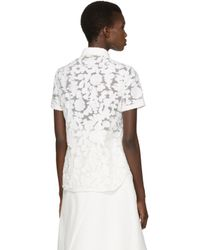 Burberry - White Floral Asterss Shirt - Lyst