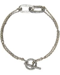 Pearls Before Swine - Metallic Silver Link Bracelet for Men - Lyst