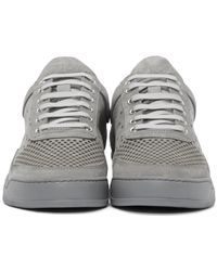 Filling Pieces - White Grey Gradient Perforated Sneakers for Men - Lyst