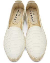 Manebí - White Leather Amazonia Espadrilles - Lyst