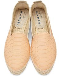 Manebí - Pink Leather Amazonia Espadrilles - Lyst
