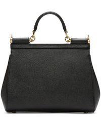 Dolce & Gabbana - Black Sicily Medium Textured-leather Tote - Lyst