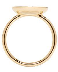 Marc Jacobs - Metallic Gold & Black Logo Disk Ring - Lyst
