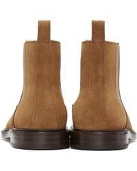 A.P.C. | Brown Ethan Suede Boots for Men | Lyst