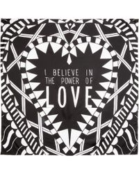 Givenchy - Black Silk Power Of Love Scarf - Lyst