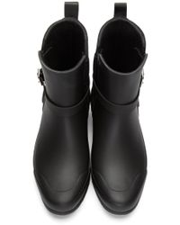 Burberry - Black Riddlestone Rubber Rainboots - Lyst