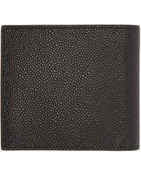 Thom Browne   Black Leather Wallet for Men   Lyst