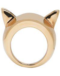 Stella McCartney - Metallic Gold Cat Ear Ring - Lyst