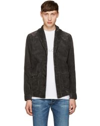 Visvim | Black Kobush Shawl Collar Jacket for Men | Lyst