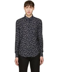 Naked & Famous - Blue Navy Kimono Pine Needle Shirt for Men - Lyst