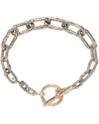 Pearls Before Swine - Metallic Silver & Gold Link Bracelet - Lyst