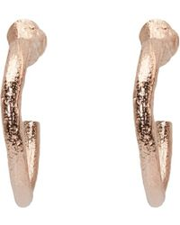Pearls Before Swine | Metallic Ssense Exclusive Rose Gold Loop Earrings | Lyst