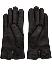 Lemaire - Black Lambskin Gloves for Men - Lyst