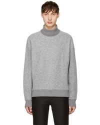 Wooyoungmi - Gray Grey Boiled Wool Turtleneck for Men - Lyst