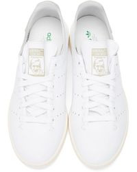 Adidas Originals - White Stan Smith Lea Sock Sneakers for Men - Lyst
