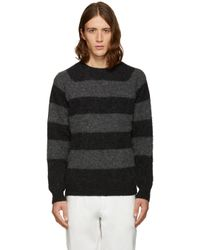 Noah - Black Striped Sweater for Men - Lyst