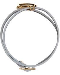 McQ   Metallic Silver Swallow Mini Wrap Bracelet   Lyst