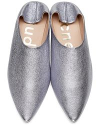 Acne | Purple Amina Space Flats | Lyst