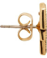 Marc Jacobs | Metallic Gold Lightning Coin Earrings | Lyst