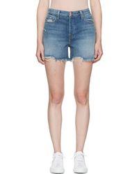J Brand | Blue Denim Ivy High-rise Shorts | Lyst