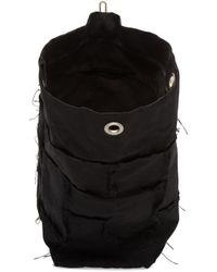 Junya Watanabe - Black Canvas One Shoulder Backpack - Lyst