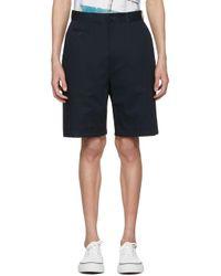 Junya Watanabe | Blue Navy Chino Shorts for Men | Lyst