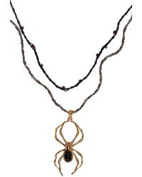 Lanvin - Metallic Gold Spider Pendant Necklace for Men - Lyst