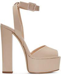 Giuseppe Zanotti | Natural Beige Patent Lavinia Platform Sandals | Lyst