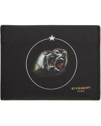 Givenchy Black Monkey Brothers Card Holder for men