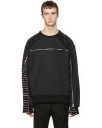 Juun.J | Black Oversized Zipper Pullover for Men | Lyst