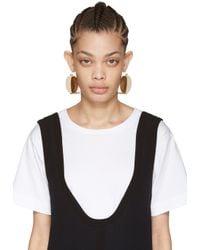 Marni | White Ivory Wood Drop Earrings | Lyst