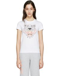 KENZO   White Tiger T-shirt   Lyst