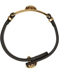 Versace   Black & Gold Medusa Bracelet   Lyst