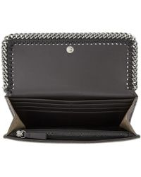 Stella McCartney | Gray Grey Falabella Continental Flap Wallet | Lyst