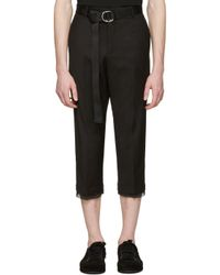 Dbyd | Black Belted Trousers for Men | Lyst