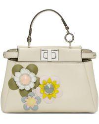 Fendi | White Ivory Micro Peekaboo Bag | Lyst