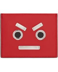 Fendi | Red ' Faces' Card Holder | Lyst