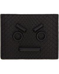 Fendi Black Python ' Faces' Card Holder for men