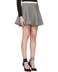 Miu Miu | Black & White Gingham Check Skirt | Lyst