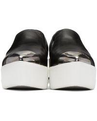 Miu Miu - Black Platform Slip-on Sneakers - Lyst