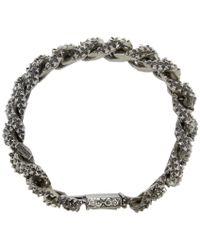 Emanuele Bicocchi | Metallic Silver Worked Chain Bracelet | Lyst