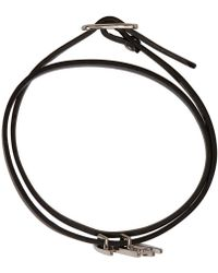 McQ | Black Swallow Mini Wrap Bracelet | Lyst