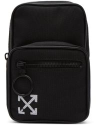 Off-White c/o Virgil Abloh - Black Mini Brushed Arrows Crossbody Bag - Lyst