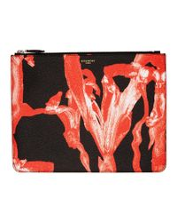 Givenchy - Black And Red Large Iris Pouch - Lyst