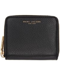 Marc Jacobs - Black Small Recruit Zip Wallet - Lyst
